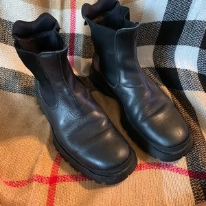 Prada Mens Ankle Boots in Black Calf Leather